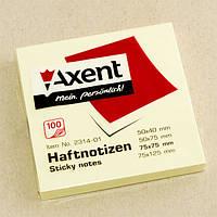Стикеры Axent 75*75 мм, желтые 2314-01-А