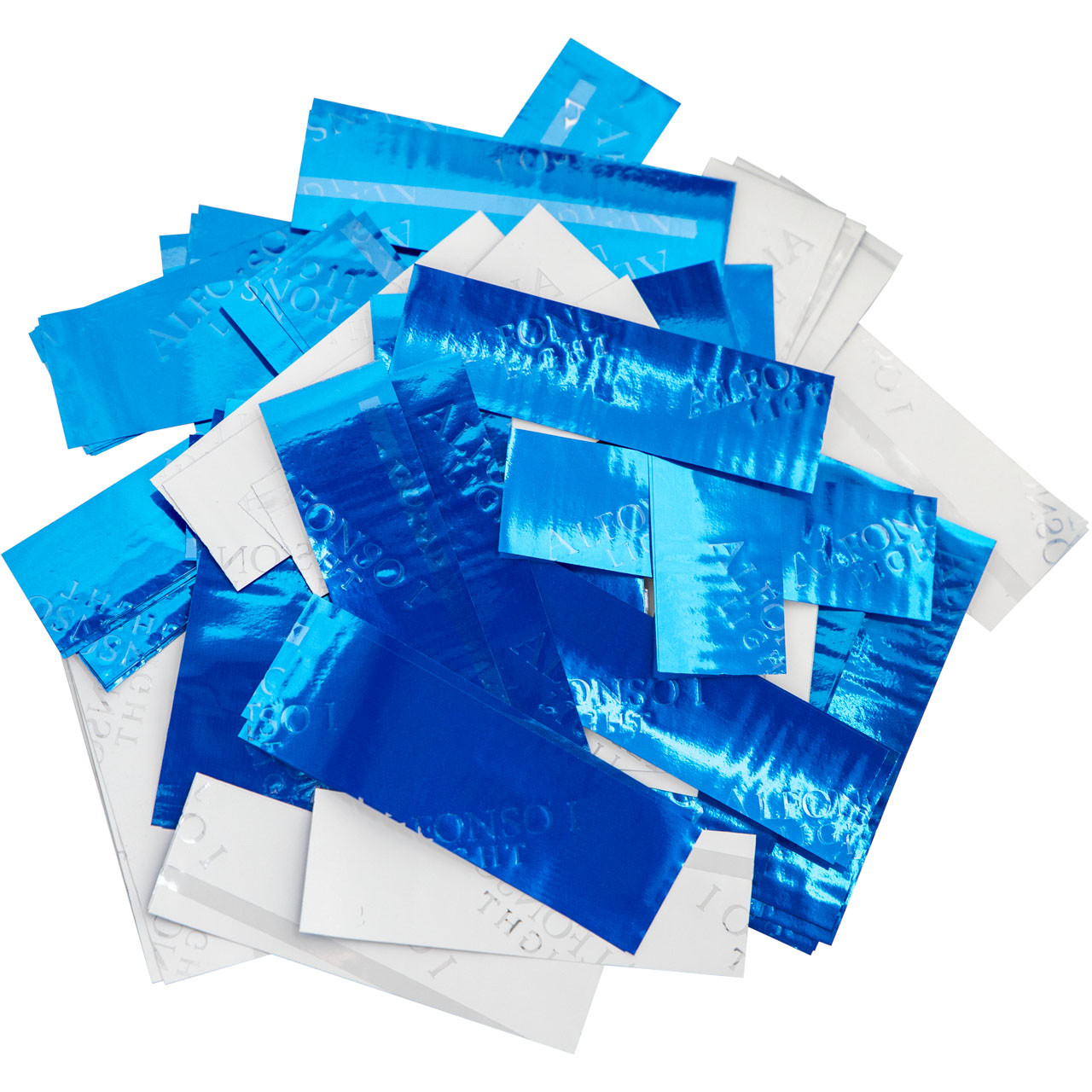 Конфетти-Метафан ЛК618 Голубо-Белый 2х2 1кг