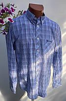 Мужская рубашка в клетку Размер наш 50 ( Я-100), фото 2