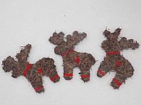 Новогодний  декор   для дома маленькие олени