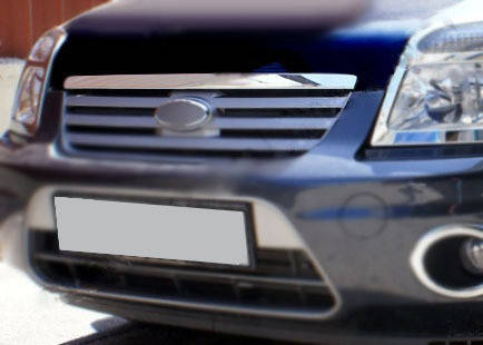 Форд Коннект хром на кант решетки из нержавейки Форд Транзит Коннект, фото 2