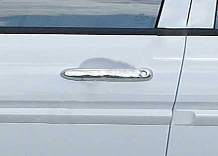 Накладки на ручки (4 шт, нерж.) Honda Civic Sedan VIII 2006-2011 гг. Хонда Цивик Седан VIII, фото 2