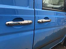 Mercedes Vito 639 Хром на ручки (сталь, 4 шт), Omsa Мерседес Бенц Вито W639, фото 2