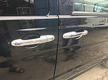 Mercedes Vito 639 Хром на ручки (сталь, 4 шт), Omsa Мерседес Бенц Вито W639, фото 3