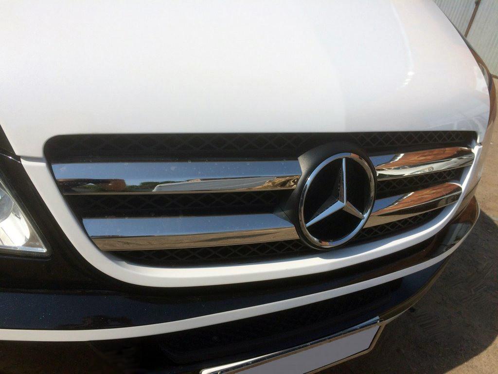 Решетка радиатора (нерж. сталь, Omsa) Mercedes Sprinter 906 Мерседес Бенц Спринтер