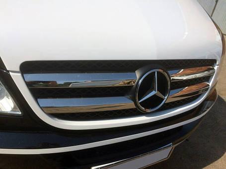 Решетка радиатора (нерж. сталь, Omsa) Mercedes Sprinter 906 Мерседес Бенц Спринтер, фото 2