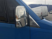 Накладки на дефлектор окон (нерж) Mercedes Sprinter 906 Мерседес Бенц Спринтер, фото 2