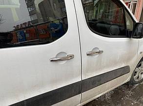 PEUGEOT PARTNER TEPEE Накладки на дверные ручки (нерж.) 4 двер Пежо Партнер Типи, фото 2
