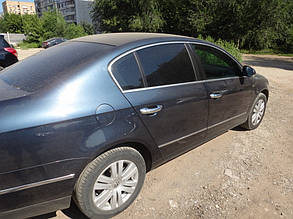 VW Passat В6 Накладки на дверные ручки (нерж.) 4 дверн Фольксваген Пассат Б6, фото 2
