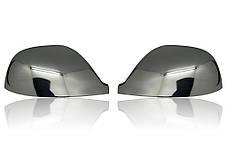 Volkswagen T5 Накладки на зеркала (хромированный пластик) Фольксваген Транспортер, фото 2