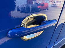 Накладки под ручки (4 шт, нерж) Volkswagen LT 1998↗ гг. Фольксваген ЛТ, фото 3