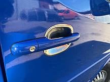 Накладки под ручки (4 шт, нерж) Volkswagen LT 1998↗ гг. Фольксваген ЛТ, фото 2