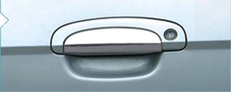 Хром тюнинг ручек Hyundai Getz 2002↗ (4 шт) Carmos Хюндай Гетц, фото 2