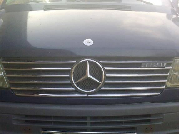 Накладки на решетку радиатора (1995-2000, 12 частей, нерж) Mercedes Sprinter 1995-2006 гг. Мерседес Бенц Спринтер, фото 2