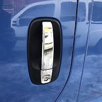 Хромированные аксессуары для ручек Opel Vivaro (Carmos, 4 шт) Опель Виваро, фото 2
