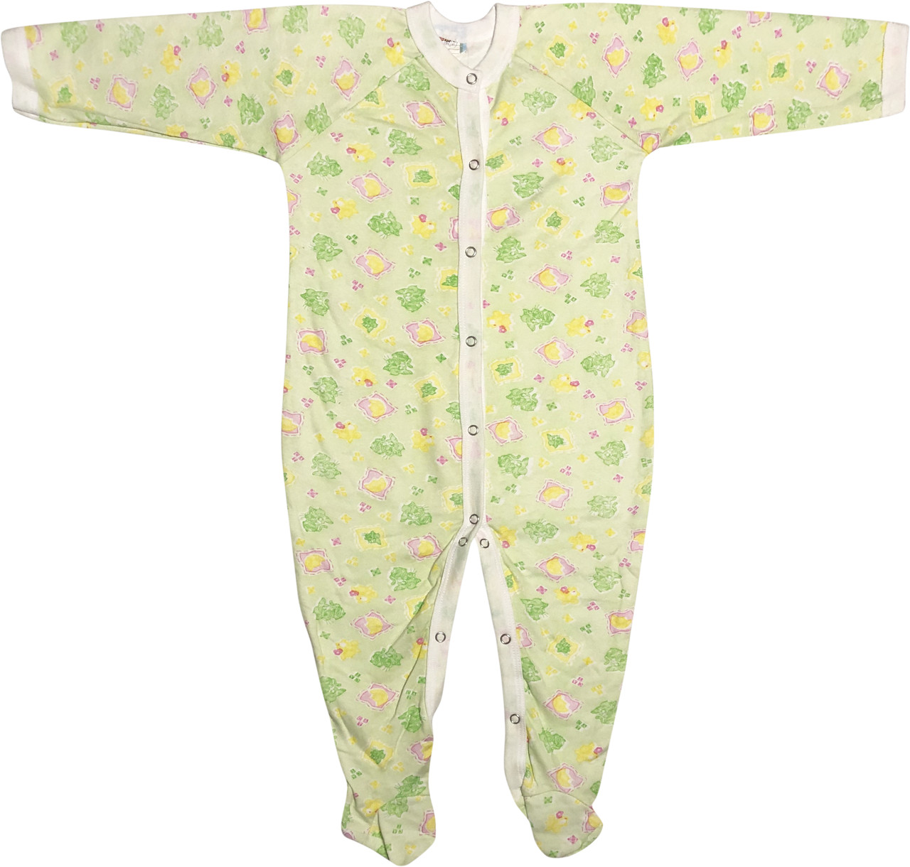 Теплий чоловічок з начосом для новонароджених ріст 86 1-1,5 року на хлопчика дівчинку сліп футер салатовий