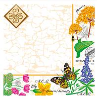 """Салфетка """"Luxy"""" 33x33, 3 шара, 20шт, """"Ботанический сад"""""""