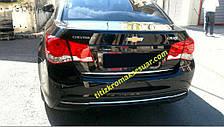 CHEVROLET CRUZE Sedan Накладка на кромку багажника OmsaLine Шевроле Крузе, фото 2
