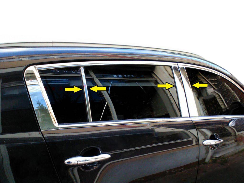 Молдинг дверных стоек (6 шт, нерж.) Kia Sportage 2010-2015 гг. КИА Спортейдж