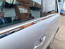 Мерседес МЛ164 Наружняя окантовка стекол (нерж) КАРМОС Мерседес Бенц МЛ, фото 3