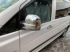 Mercedes Vito Viano Накладки на зеркала (сталь) Omsa Мерседес Бенц Виано, фото 3