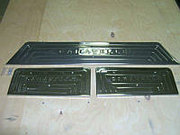 Transporter T5 FaceLift Накладки на пороги 3 двери OmsaLine Фольксваген Транспортер