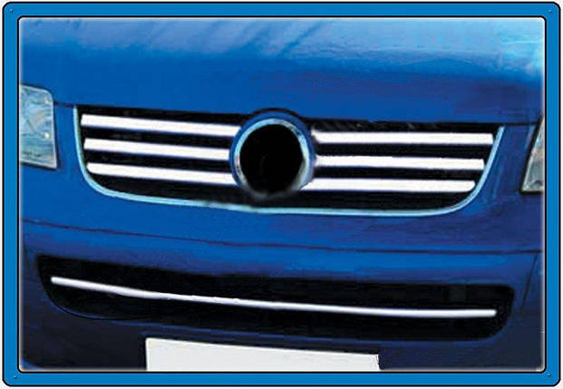 Carmos VW T5 MULTIVAN накладки на решетку Фольксваген Мультивен, фото 2
