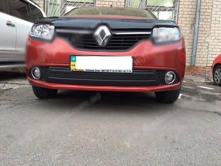 Renault Logan III Зимняя глянцевая накладка на нижнюю решетку Рено Логан, фото 2