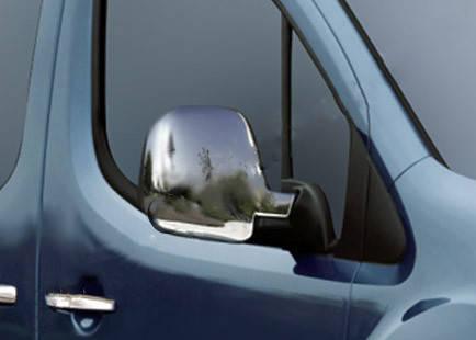 Накладки на зеркала (2 шт, пласт) Peugeot Partner 1996-2008 гг. Пежо Партнер, фото 2