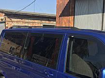 (CAN) Рейлинги черные на VW Т5 с пластиковым креплением (алюминий) на короткую базу Фольксваген Транспортер, фото 3