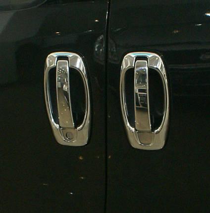 Fiat Doblo 2010↗ накладки на ручки с обводкой OmsaLine Фиат Добло, фото 2