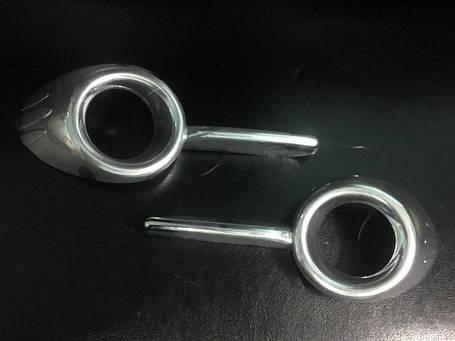 Окантовка противотуманок с углублениями (2 шт., пласт.) Fiat Doblo III nuovo 2010↗ и 2015↗ гг. Фиат Добло, фото 2