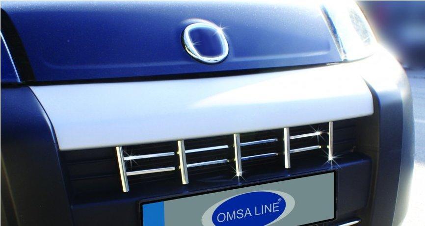 Накладки на решетку (13 частей, нерж) Fiat Fiorino/Qubo 2008↗ гг. Фиат Кубо
