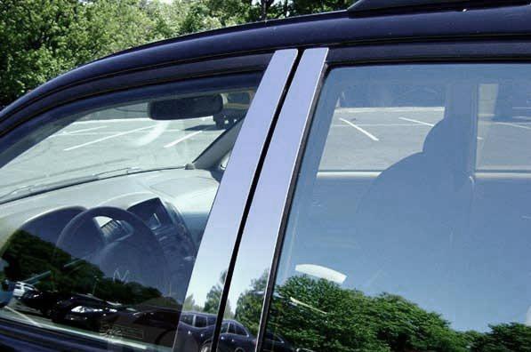 Молдинг дверных стоек (8 шт, нерж) Nissan Juke 2010↗ гг. Ниссан Жук