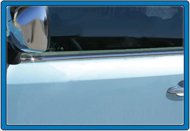 Окантовка стекол (нерж.) Mercedes Citan на передние двери Мерседес Бенц Ситан, фото 2