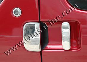 Peugeot Partner 1996-2008 Накладки на ручки хромированные две передних и две сдвижных двери Пежо Партнер, фото 2
