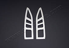 Пежо Партнер 2008-2012 Накладки на стопы Carmos (нержавейка) Пежо Партнер Типи, фото 3