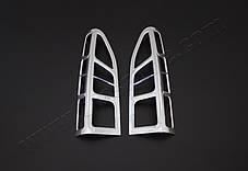 Peugeot Partner Tepee 2012↗ Накладки на стопы угловые АБС-хром Пежо Партнер Типи, фото 2