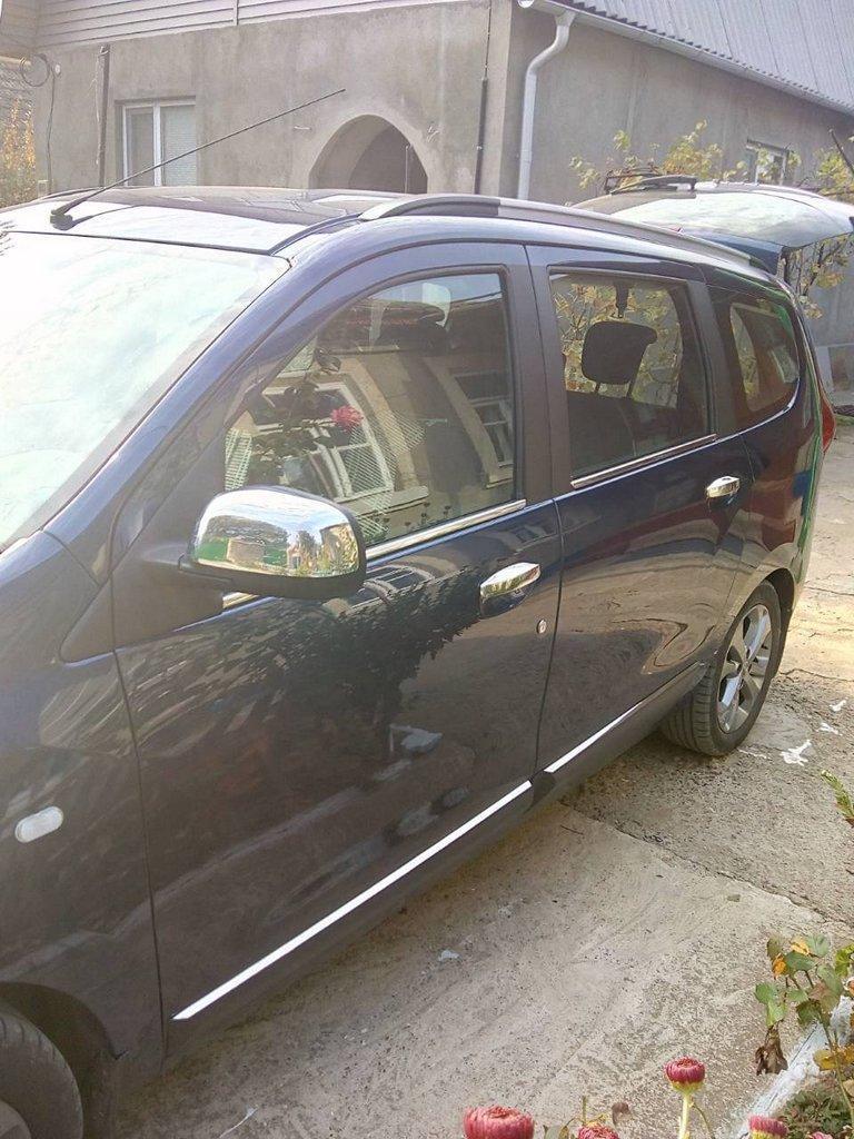 Renault Lodgy Накладки на зеркала Carmos нержавейка Рено Лоджи