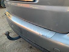 Накладка на задний бампер Carmos (нерж) Volkswagen Touran 2003-2010 гг. Фольксваген Туран, фото 2
