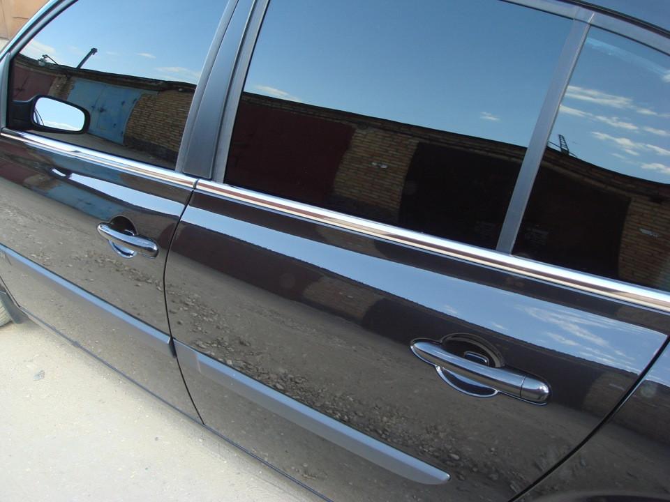 Renault Megane II Наружняя окантовка стекол Hatchback, Carmos Рено Меган