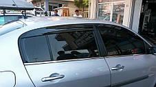 Renault Megane II Наружняя окантовка стекол Hatchback, Carmos Рено Меган, фото 3