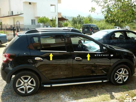Renault Sandero 2013+ Окантовка стекол Carmos Рено Сандеро, фото 2