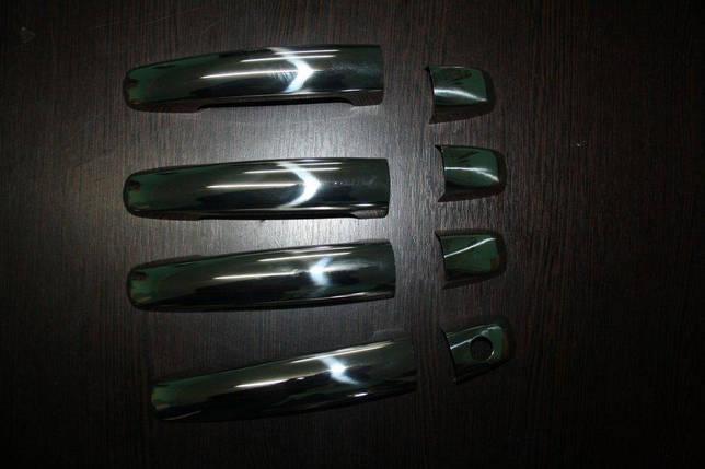 Накладки на ручки (5 шт, нерж, без чипа) Suzuki Grand Vitara 2005-2014 гг. Сузуки Гранд Витара, фото 2