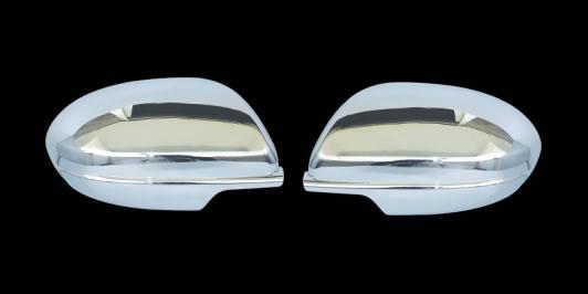 Mazda 3 2009-2012 Накладки на зеркала (нерж.) Мазда 3