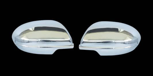 Mazda 3 2009-2012 Накладки на зеркала (нерж.) Мазда 3, фото 2
