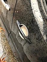 Накладки под ручки (4 шт, нерж.) Peugeot Expert 2007-2017 гг. Пежо Експерт, фото 2