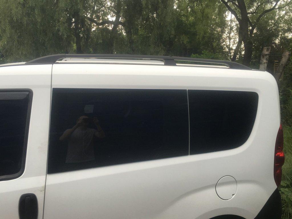 Opel Combo 2012↗ Рейлинги Чорные (пласт. крепл) на короткую базу Опель Комбо
