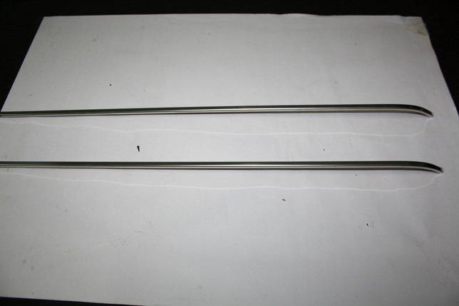 Молдинг под сдвижную дверь на рейку (2 шт, нерж) Ford Connect 2002-2006 гг. Форд Транзит Коннект, фото 2