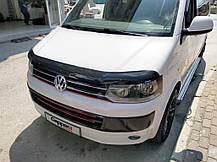 Дефлектор капота (EuroCap) Volkswagen T5 рестайлинг 2010-2015 гг. Фольксваген Транспортер, фото 2